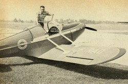 Keith S. Hopkinson with his Stits SA-3 Playboy, an aircraft now owned by the Canada Aviation and Space Museum. Ray Blair, « New boom for home-builts. » Canadian Aviation, September 1957, 64.