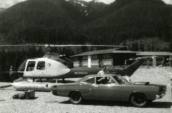 A Fairchild-Hiller FH-1100 operated by Okanagan Helicopters Limited. CASM, negative number 29896.