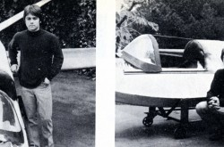 "Thomas R. Trefethen and his single seat flying boat. John Murray, ""Trefethen's Fantastic Machines."" Sport Aviation, March 1971, 33"
