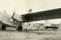 "A Rohrbach Ro VIII Roland flown by Deutsche Luft Hansa Aktiengesellschaft. It flew with Iberia, Compañía Aérea de Transportes Sociedad anónima for some time in 1928. Anon., ""Rohrbach Metall-Flugzeugbau G.m.b.H., Berlin."" Die Luftwacht, April 1928, 204."