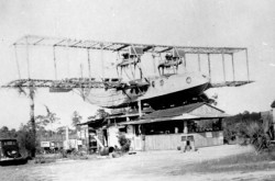 The Mystery Ship sandwich shop / restaurant near the airfield at Bradenton, Florida. Manatee County Public Library System, M01-04287-A