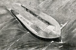 "The floating island designed by Henri Defrasse. Anon., ""Un Nuevo proyecto de isla flotante."" Alas, 1 June 1928, 189."