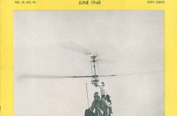 Un des trois Pentecost Hoppi-Copter de pré-production. Anon., « Hoppi-Copter in flight. » American Helicopter, juin 1948, couverture.