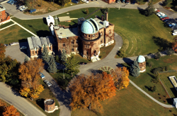 Aerial view of the Dominion Observatory, 1966.