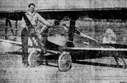 "An early Irwin M-T-2 Meteorplane and a test pilot, Ted Jenks. Anon., ""Le plus petit biplan au monde."" Le Petit Journal, 18 November 1928, 24."