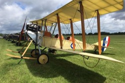 WW1 BE2c biplane, part of the fantastic Great War Display Team. Right at home on this vintage aerodrome.