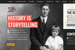 The home page of Defining Moments Canada
