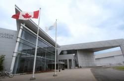 An exterior view of the Canada Aviation and Space Museum.