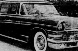 "A Zavod Imeni Likhacheva ZIL-111 limousine, Moscow. Anon., ""–."" L'Action catholique, 1 February 1959, 20."