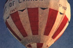 "The Spirit of Canada hot air balloon. Peter Calamai, ""Lots of hot air and a high old time."" Canadian, 26 August 1967, 14."
