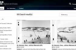 Screen shot of Explore page on Ingenium's Digital Archives portal.