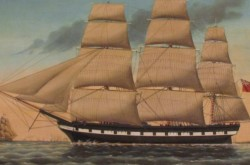 Marco Polo painting commissioned by Captain Amos Crosby of Yarmouth, Nova Scotia. Source: Courtesy of the Yarmouth County Museum, Yarmouth, Nova Scotia