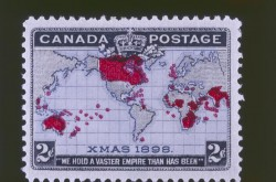 Christmas stamp issued December 7, 1898, by the Post Office Department of Canada, Canadian Museum of History, 1999.85