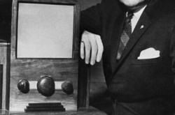 The father of television, Alphonse Ouimet, built the first television prototype in 1932 and later became the President of the CBC. Source: CBC Still Photo Collection.