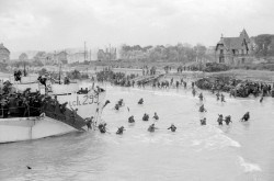 June 6, 1944: Canadian troops come ashore at Juno Beach.