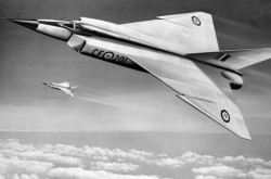 A drawing of a CF-105 Arrow. Source: Library and Archives Canada/a111546