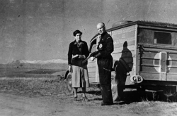 Dr. Norman Bethune (right) Canadian Blood Transfusion Unit which operated during the Spanish Civil War circa 1936-1938, Spain. Source: Library and Archives Canada Copyright: Expired.