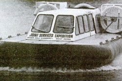 "One of the River Rover prototype shortly before it went to Nepal. Anon., ""Technology – River Rover hovers in a tight corner."" New Scientist, 16 November 1978, 80."