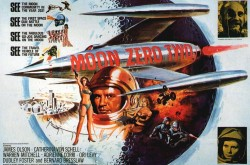 A poster for the British science fiction film Moon Zero Two.