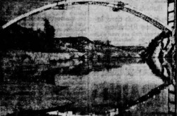 "The aluminium bridge of Arvida, Arvida / Saguenay, Québec. Anon., ""Premier pont tout en aluminium."" Le Petit Journal, 4 December 1949, 51."