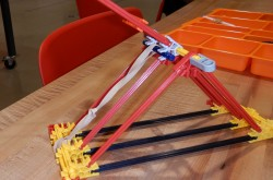 A catapult built out of K'Nex