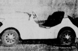 "A typical New-Map / Rolux Baby microcar. Anon., ""La voiturette 'Baby VB-60' à Québec au milieu de février."" L'Action catholique, 14 January 1950, 12."