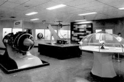 Some of the displays of the National Aviation Museum, Uplands Airport, Ottawa, Ontario, early 1960s. CASM, negative number 4446.