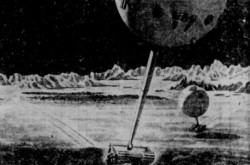 "The Oberth Moon car as imagined in 1960. I.M. Levitt, ""Le problème du transport sur la Lune."" L'Action catholique, 10 July 1960, 5."