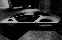 "The Ferrari 512 Pininfarina Modulo, on display at the 1971 edition of the Salon international de l'Auto de Montréal, Montréal, Québec. Jean D. Legault, ""Une première mondiale et 12 continentales."" La Patrie, 17 January 1971, 31."