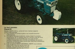 "An advertisement from Équipements Ascot Incorporée of Saint-Élie-d'Orford, Québec, extolling the merits of the UTB U530 tractor. Anon. ""Advertising – Équipements Ascot Incorporée."" Le Bulletin des agriculteurs, February 1981, 28."