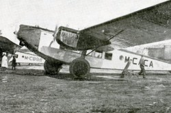 "Two Rohrbach Ro VIII Rolands operated by Iberia, Compañía Aérea de Transportes Sociedad anónima, Madrid, December 1927. The one in the background was used for the Madrid-Barcelona flight of 14 December. Anon., ""Inauguración del nuevo servicio aéreo Madrid-Barcelona."" Aérea, October-December 1927, 33."