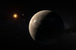 An artists impression of Proxima Centauri b, the closest exoplanet to Earth.