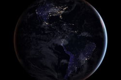 An image of Earth at night